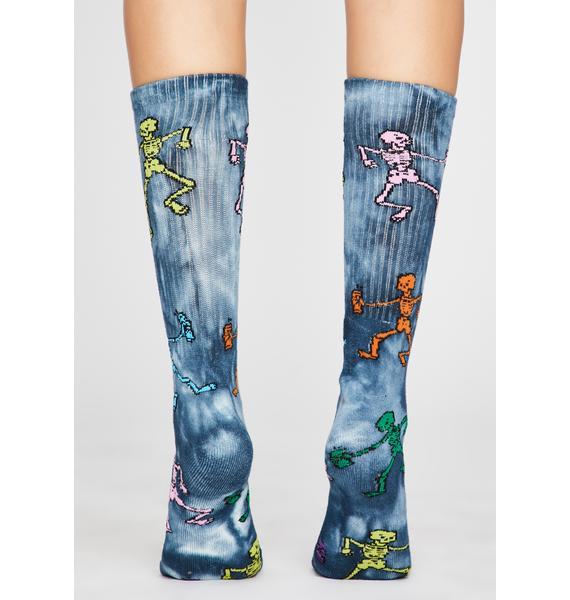 Funny Bone Tie Dye Socks