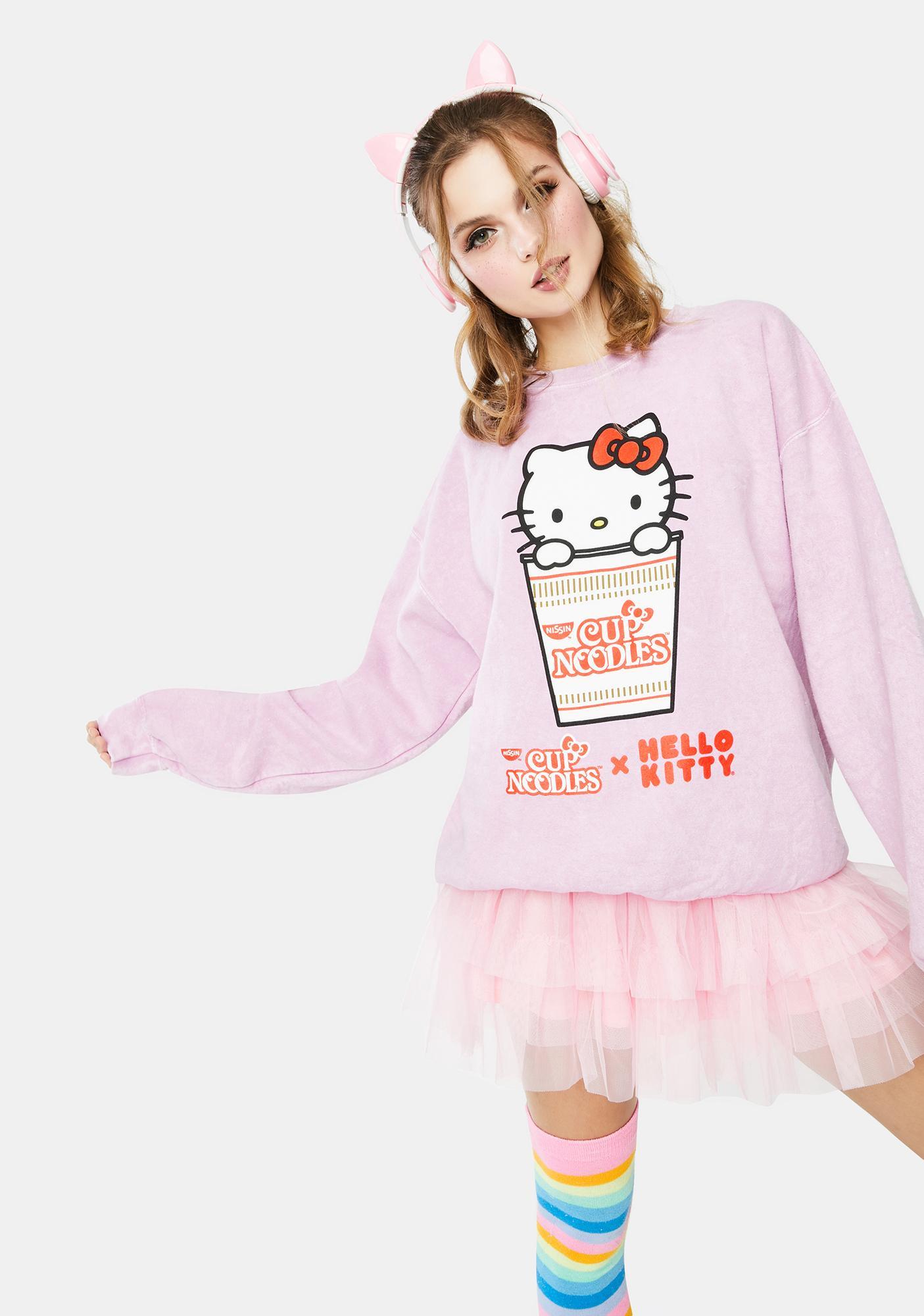 Hello Kitty x Cup Noodles Cup Noodles Crewneck Sweatshirt