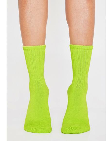 Neon Bow Socks