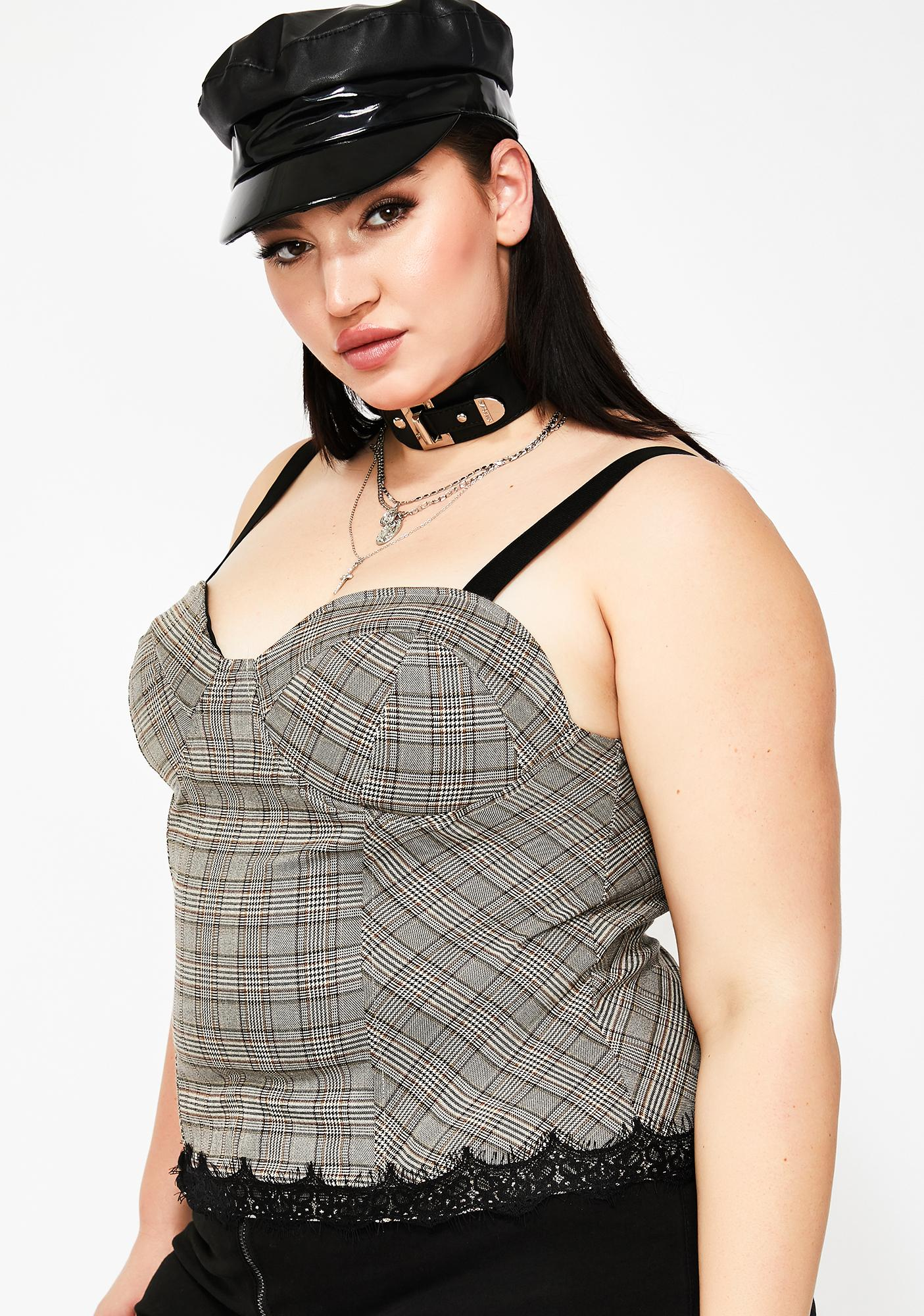 Forever Muse Plaid Bustier