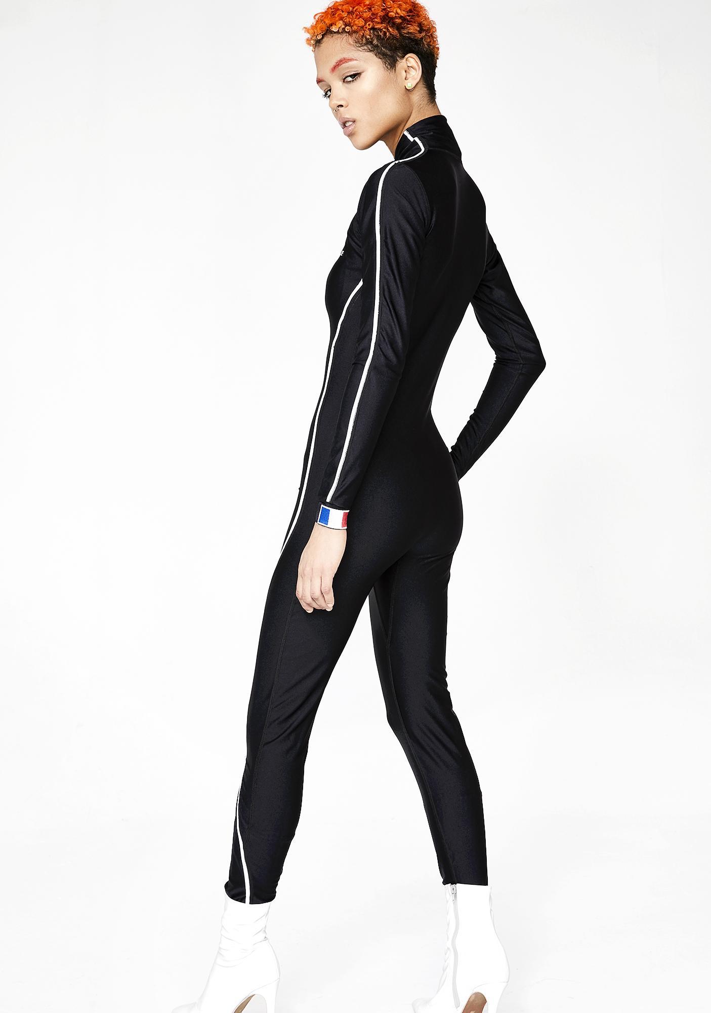 Varenne Sleek Zip Down Bodysuit