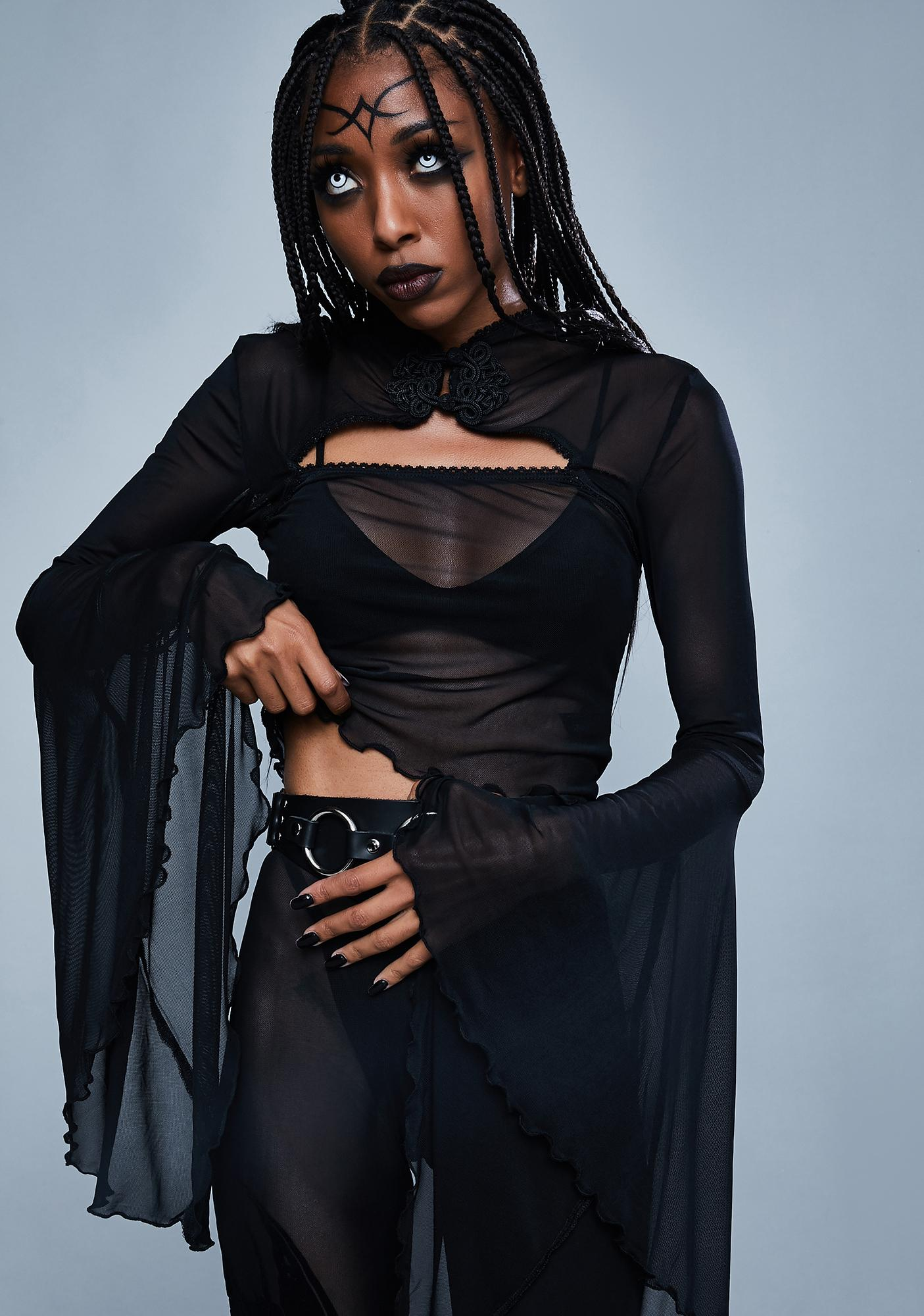 Widow When Darkness Comes Bell Sleeve Top