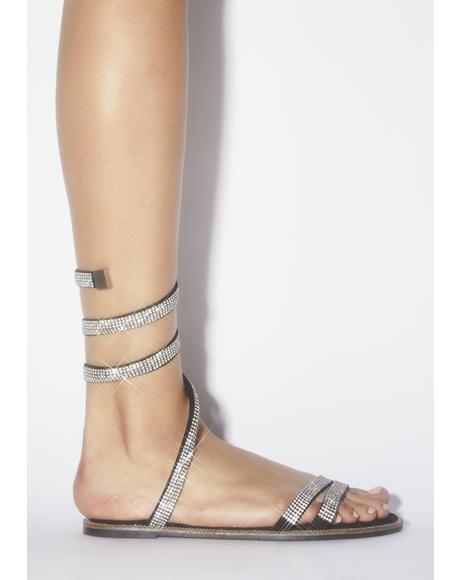 Blame Rhinestone Sandals