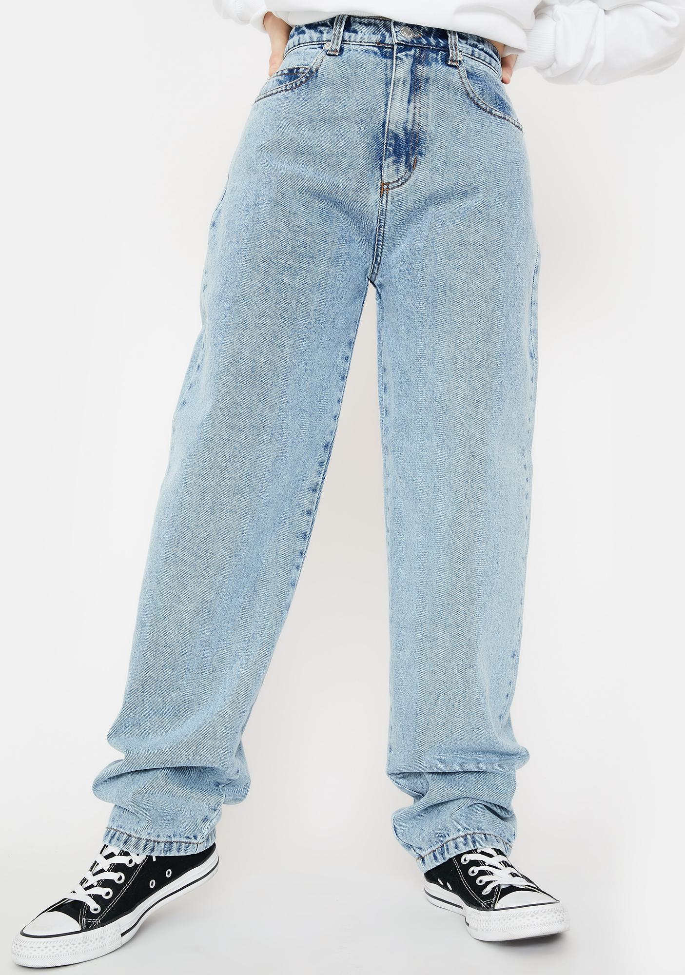 Minga Light Blue Angelic Dad Jeans