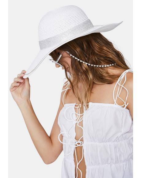 Icy Boho Bling Straw Hat