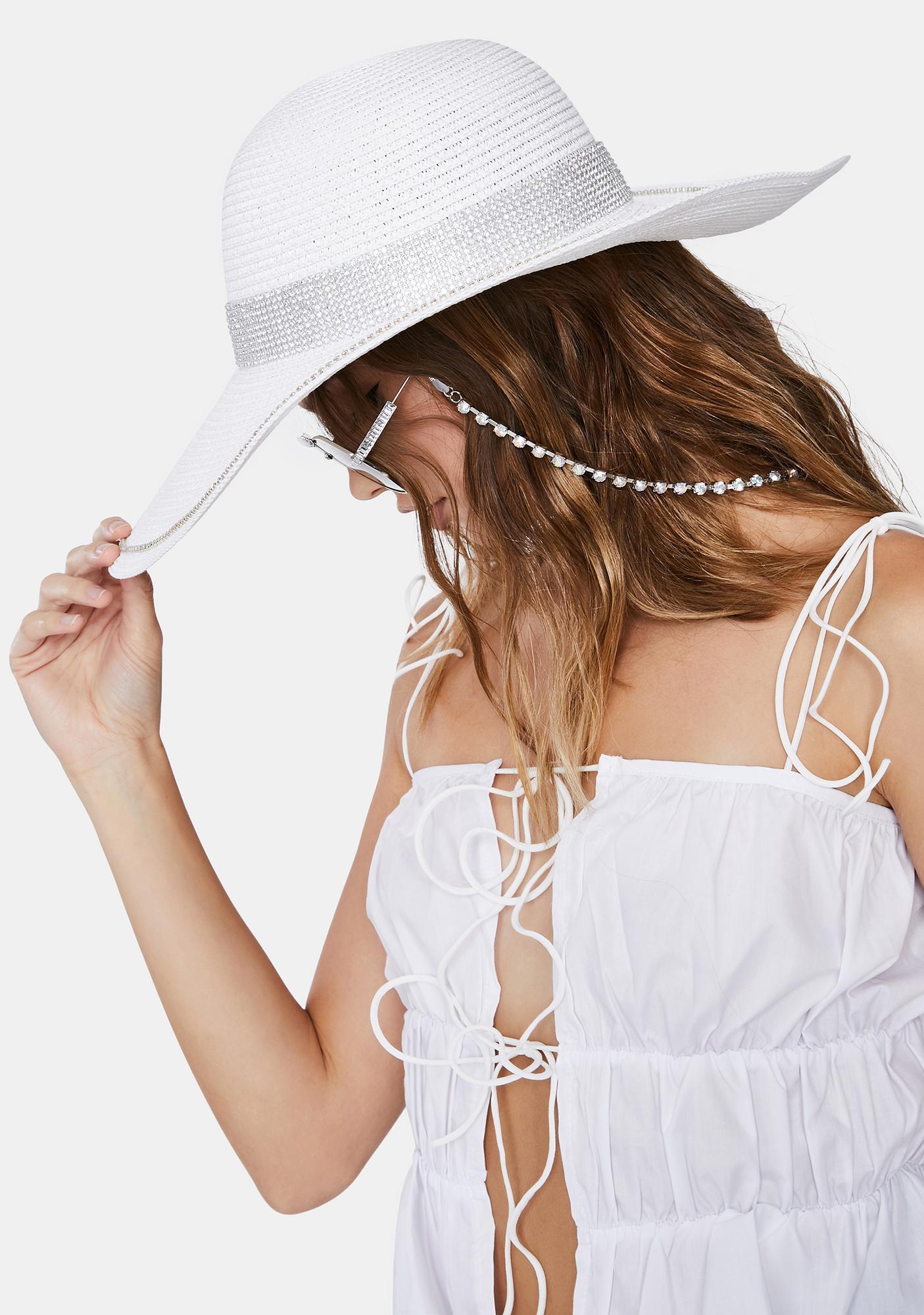 Icy Boho Bling Straw Hat