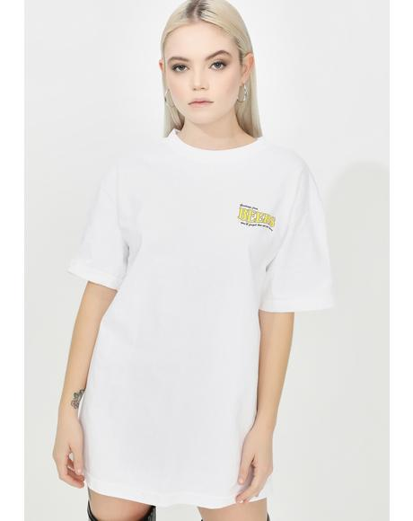 White Postcard Graphic Tee