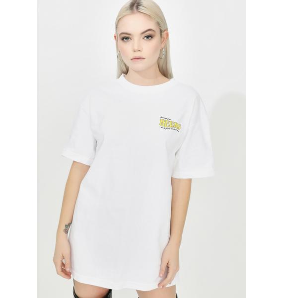Beers White Postcard Graphic Tee