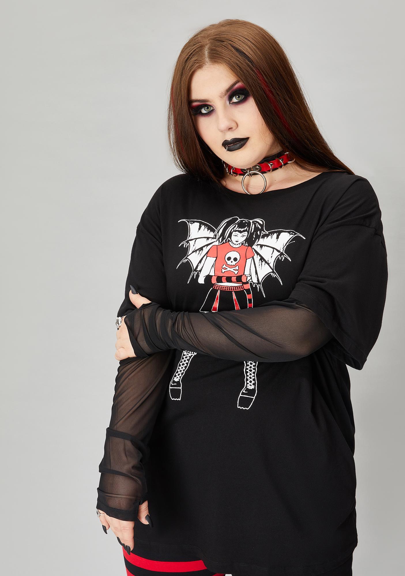 Widow Divine Miss Misery Layered Graphic Tee