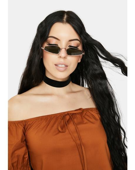 Spill The Tea Gold Sunglasses