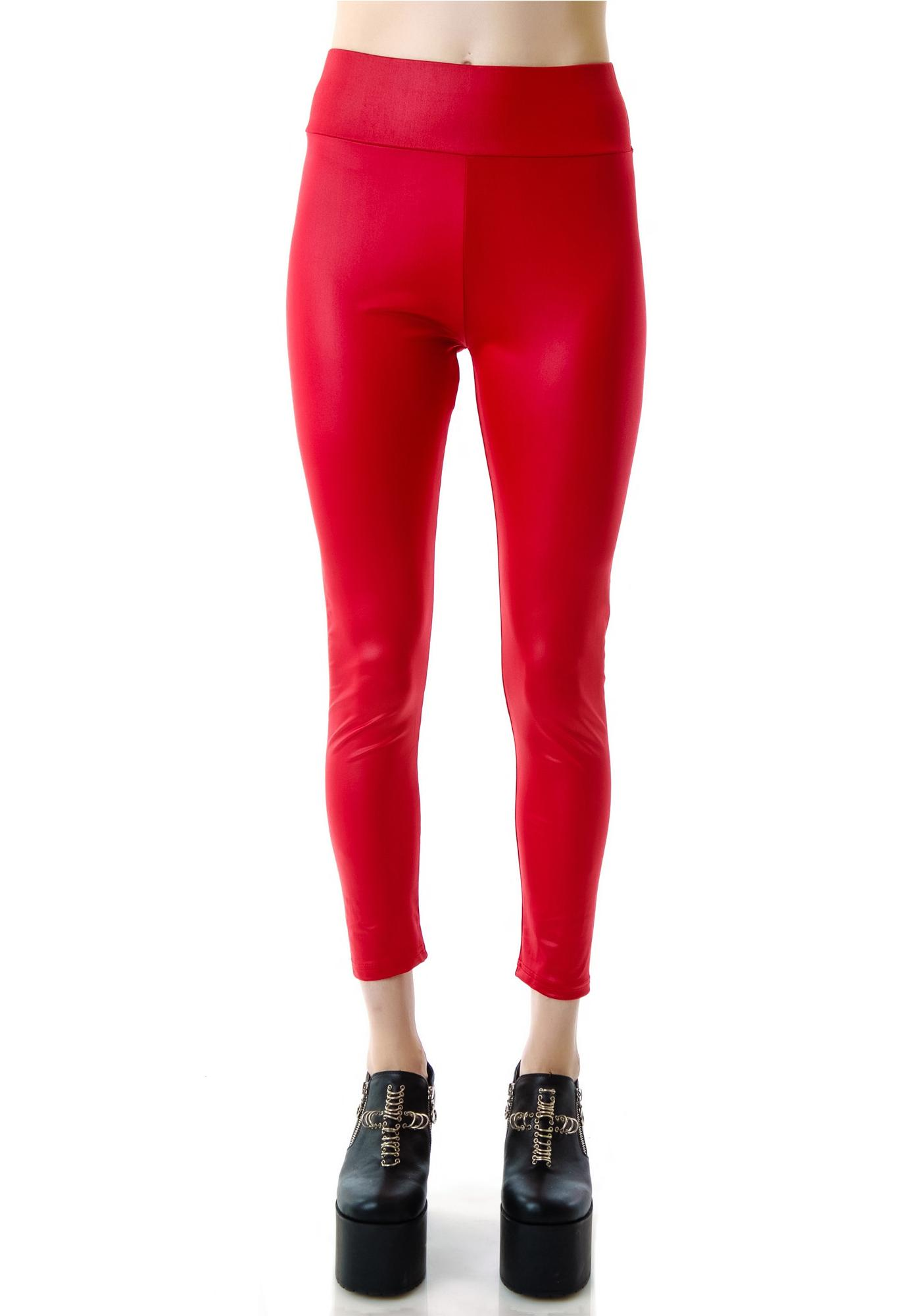 Hot Like Fire Engine Red Leggings