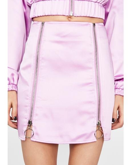 Lavender Fly Nation Bomber Skirt
