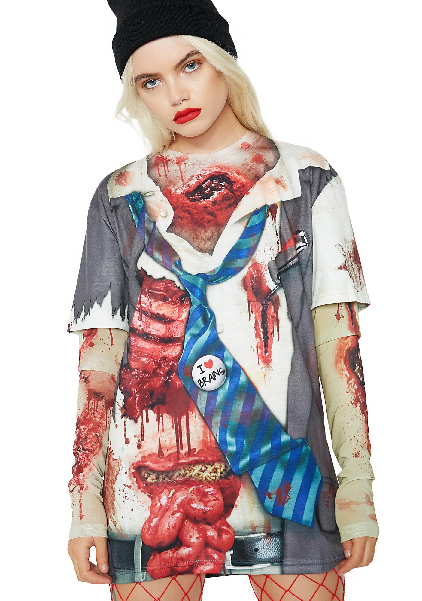 Zombie Mesh Long Sleeve Tee
