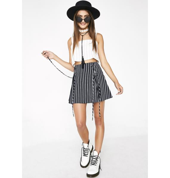 Take A Stroll Pinstripe Skirt