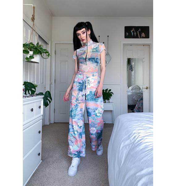 Jaded London Washed Hawaiian Print Sweatpants