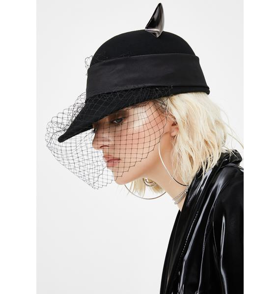 Solemn Salem Cat Ear Hat
