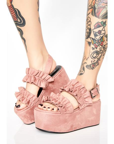 Ruffled Fate Platform Sandals