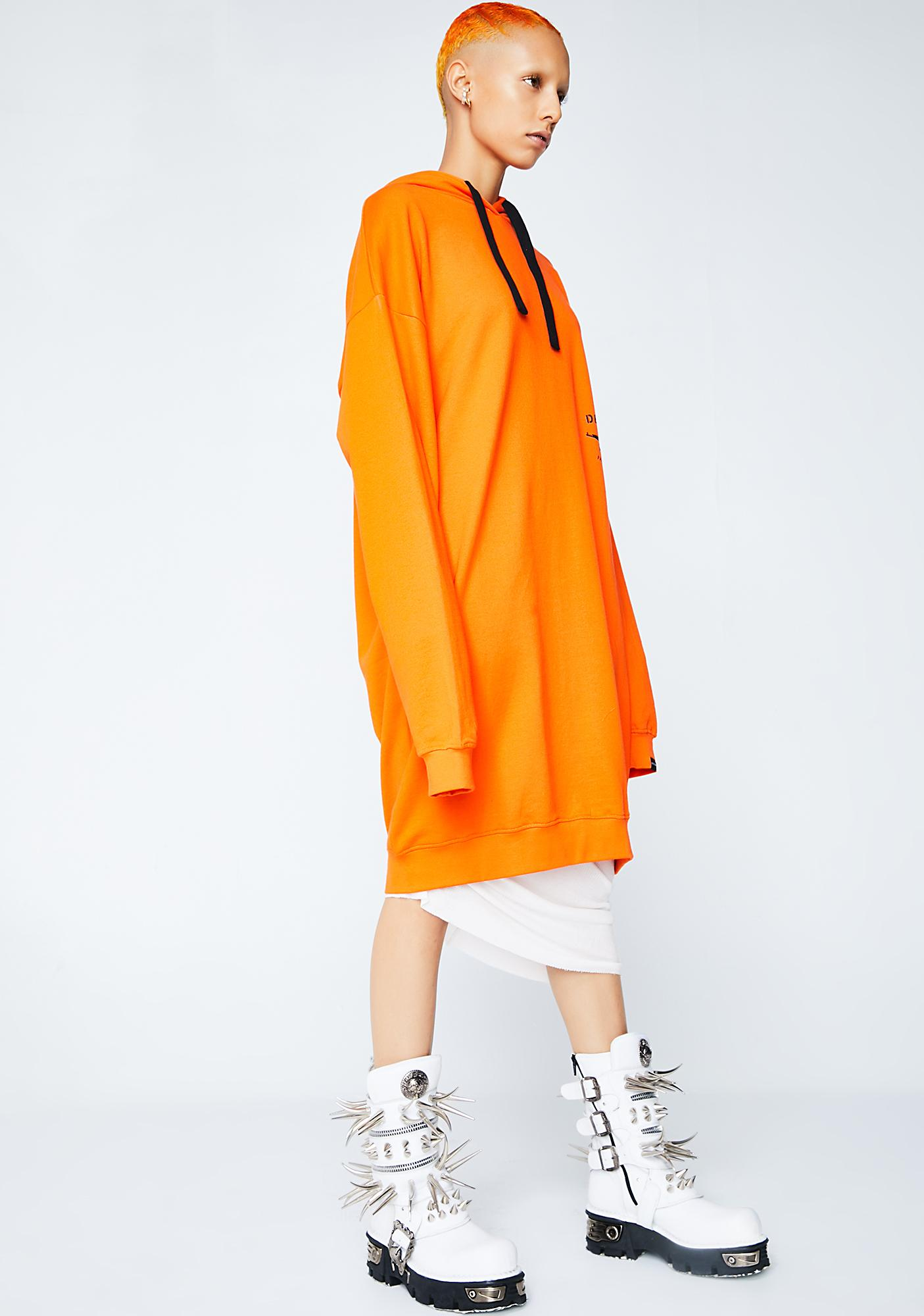 Defend Paris Paola Oversize Hooded Dress