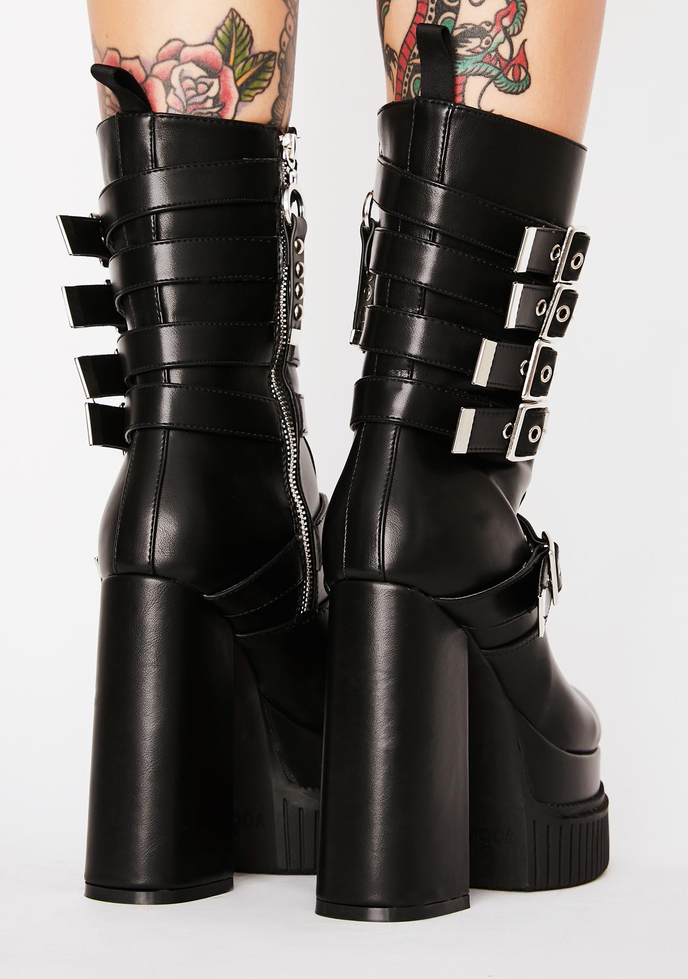 Lamoda Stagelight Creeper Platform Boots