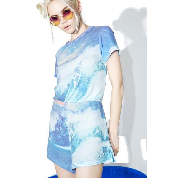 Wildfox Couture Blue Crush Cruise Romper