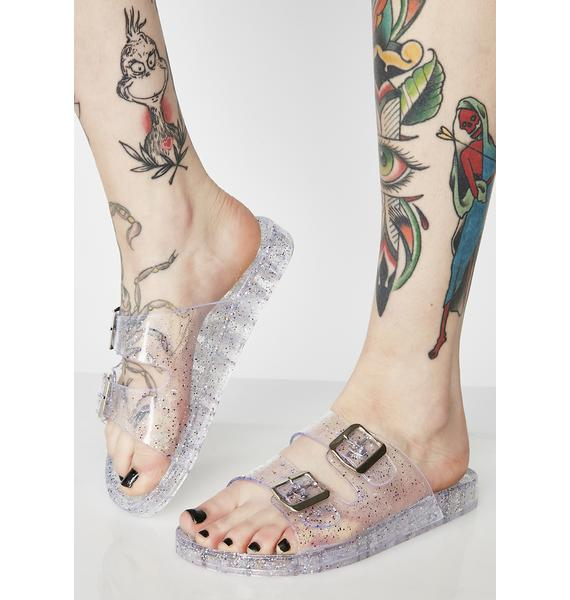 Never Lose Ur Sparkle Jelly Sandals