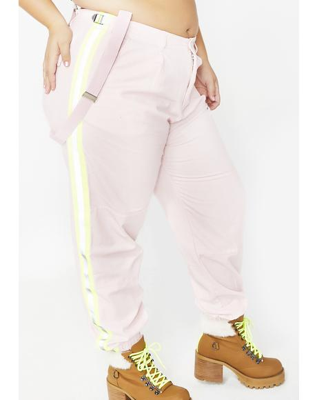 Queen Champagne Shine Reflective Pants