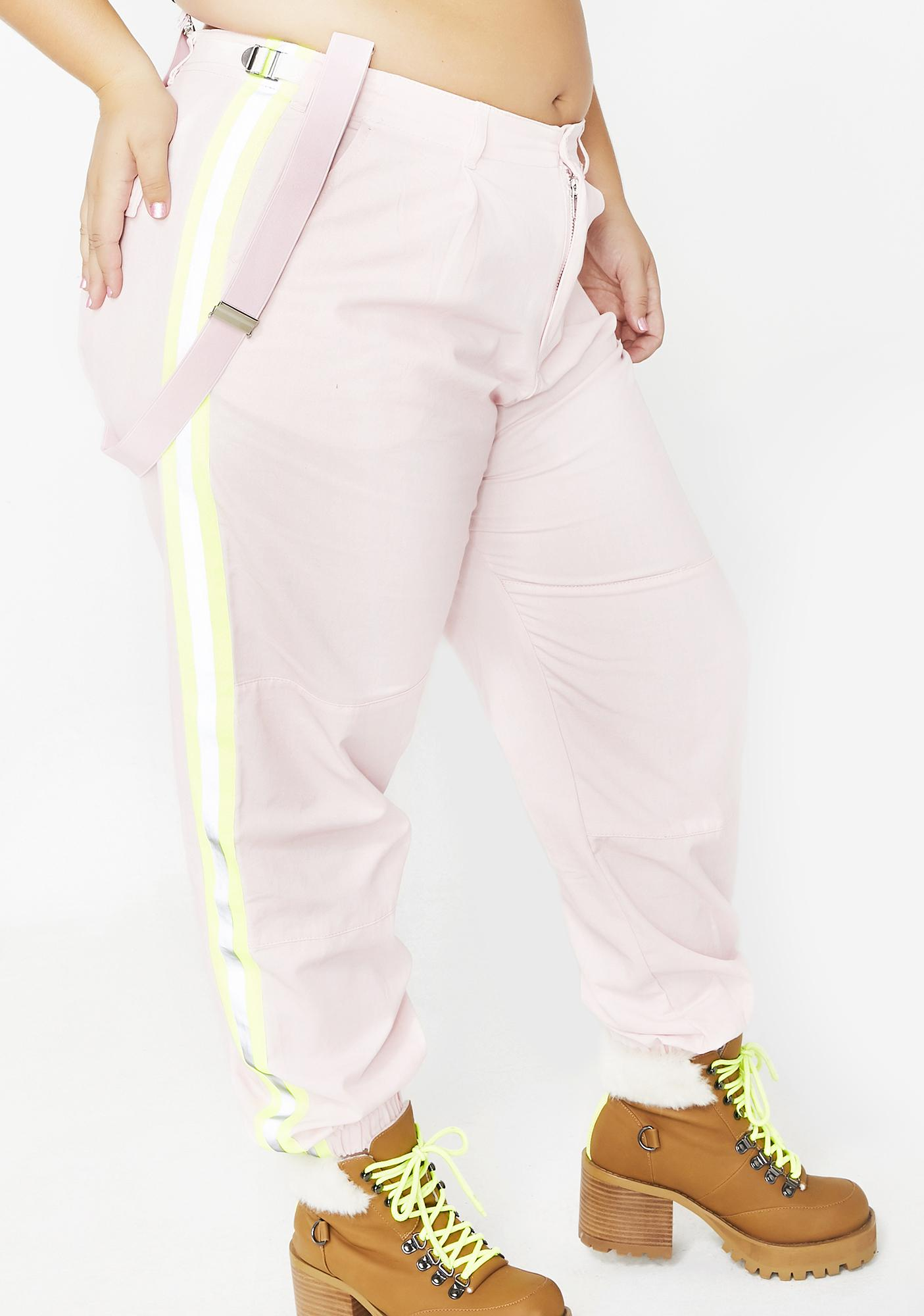 Poster Grl Queen Champagne Shine Reflective Pants