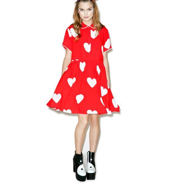 Lazy Oaf Red Heart Dress