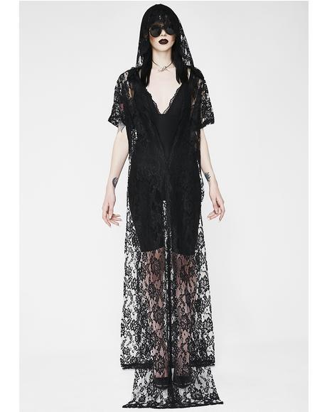 Malice In Wonderland Lace Kimono