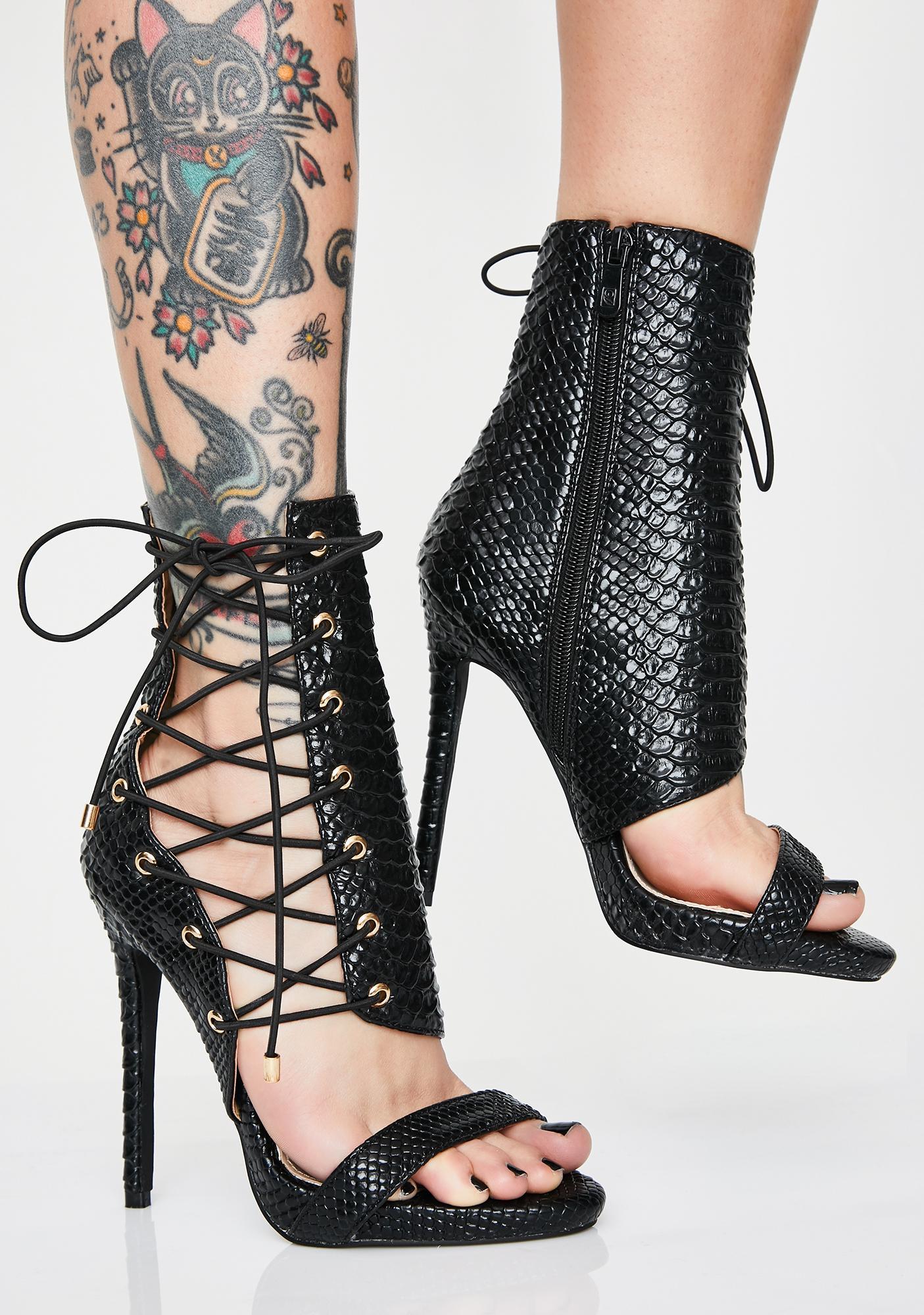 b47734ce5c2 AZALEA WANG Dark Love Me Love Me Not Stiletto Heels
