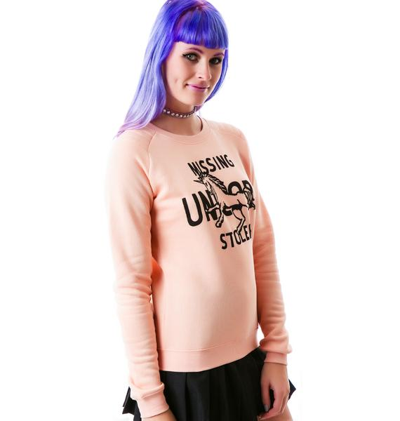 Zoe Karssen Missing Stolen Unicorn Sweatshirt