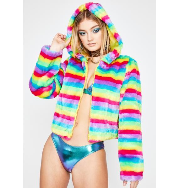 Rave Mentality Faux Fur Jacket