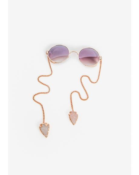 Ring Around The Roses Circle Sunglasses