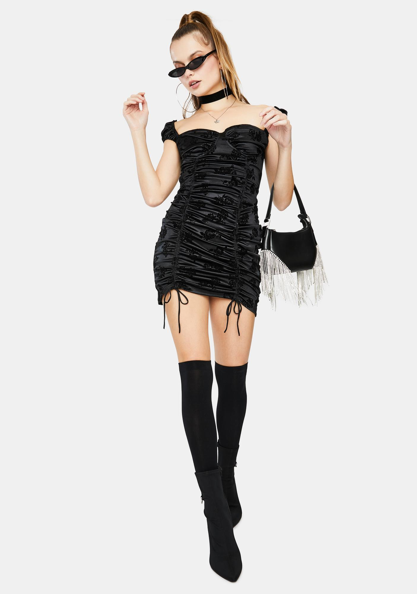 Motel Sinora Ruched Mini Dress