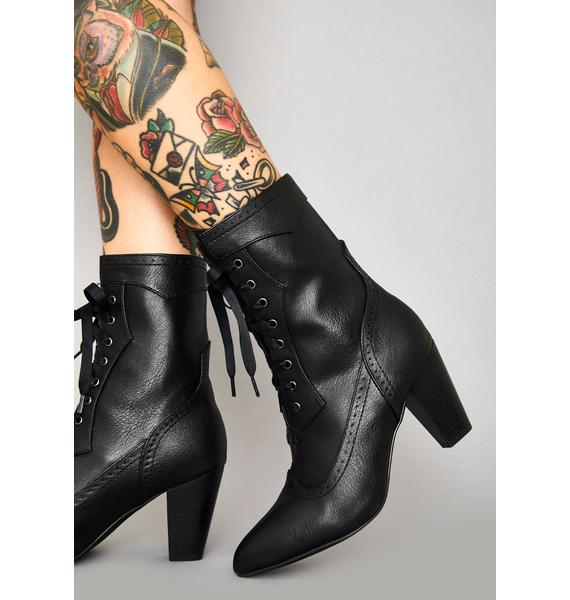 Widow Victorian Vices Lace Up Boots