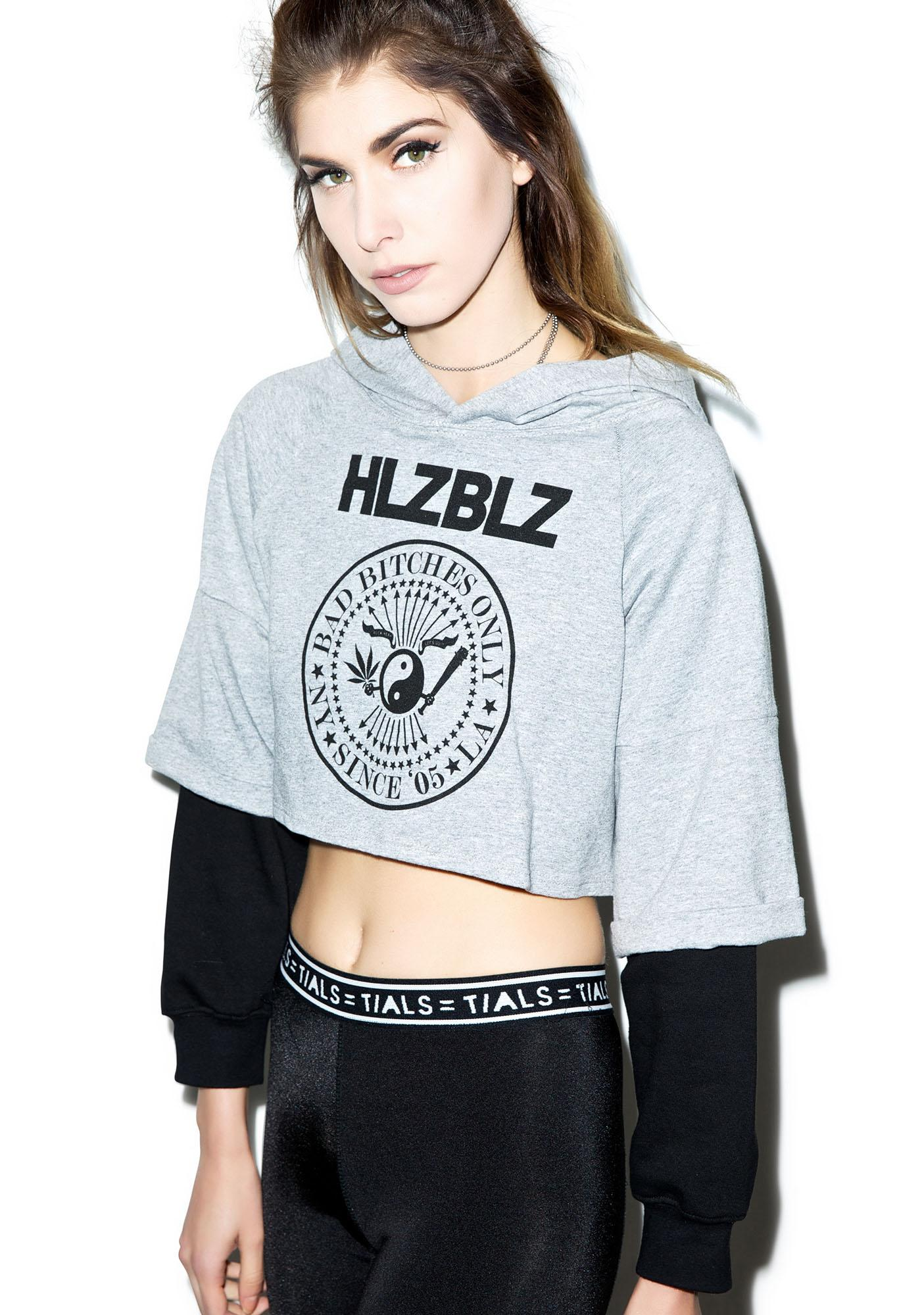 HLZBLZ Bad NY Bitches Hooded Crop Top