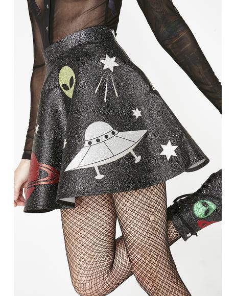 Space Invasion Mini Skirt
