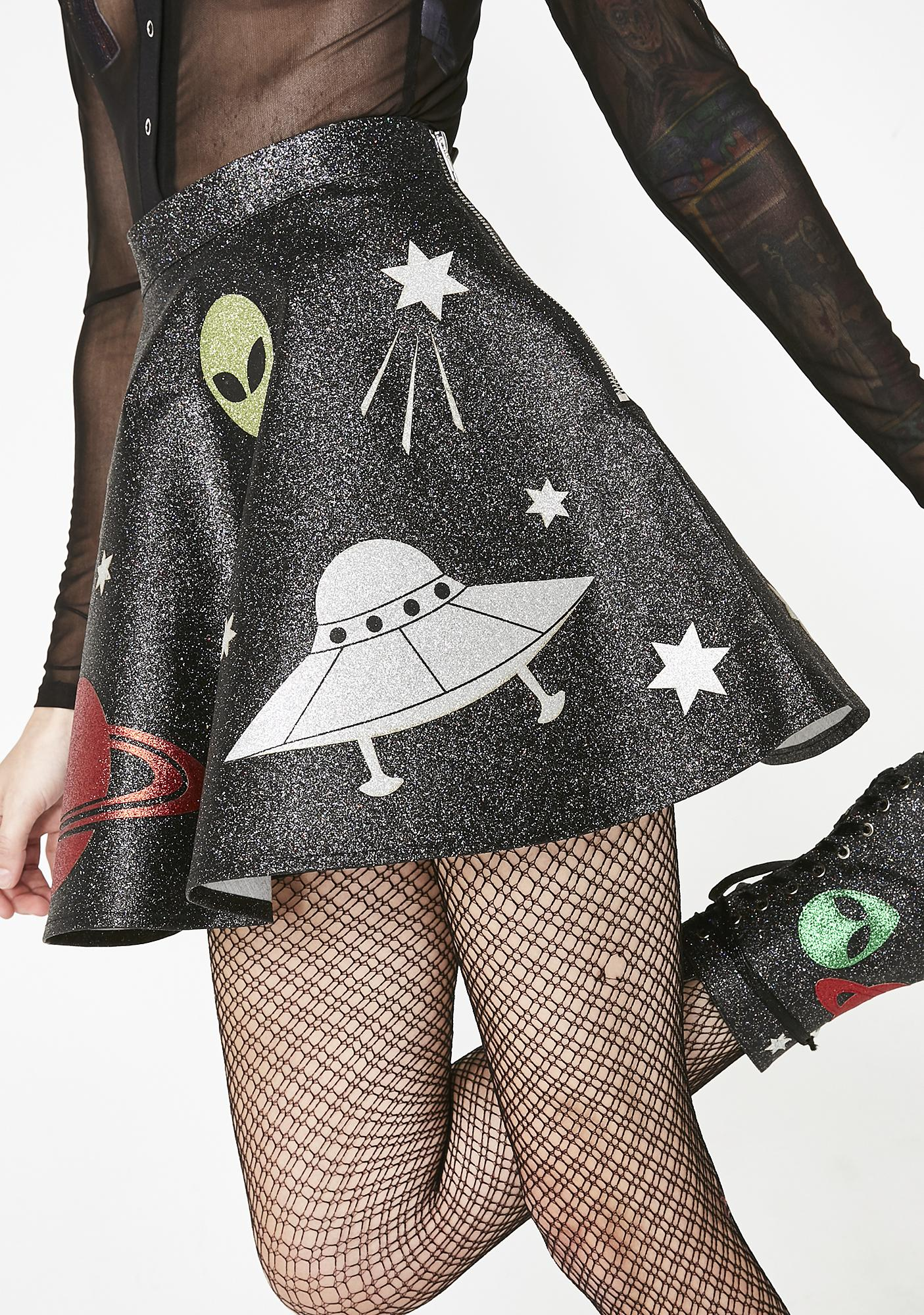 Current Mood Space Invasion Mini Skirt