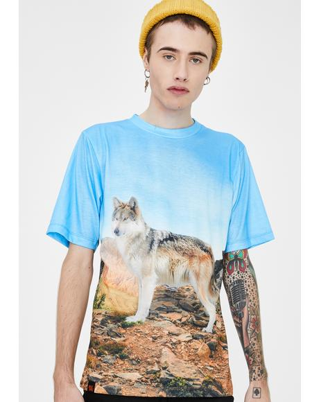 Subliminal Animal Wolf Graphic Tee