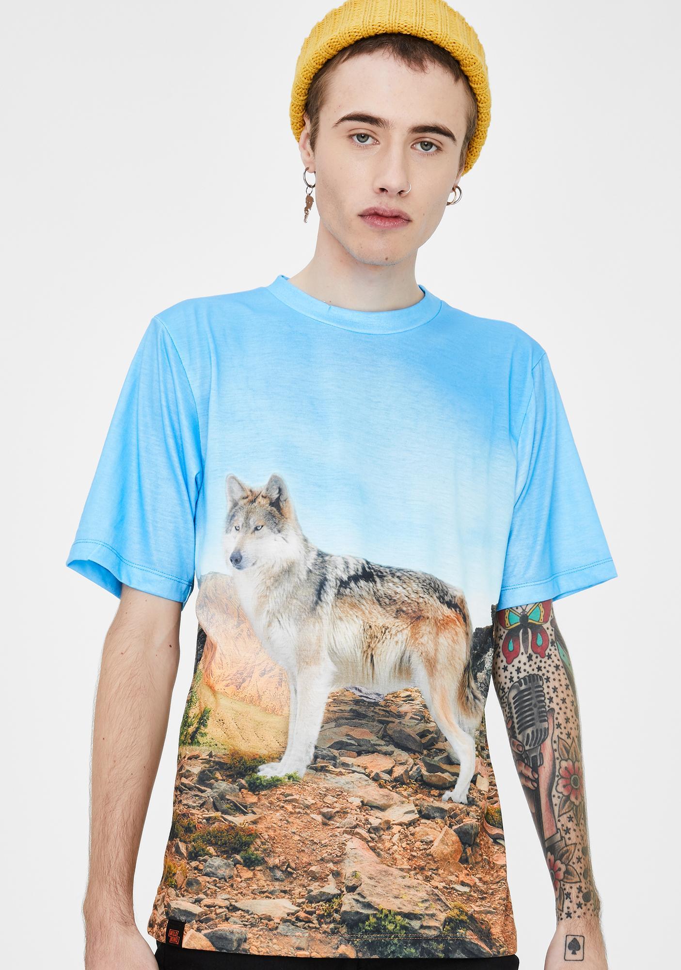 Wildkind Subliminal Animal Wolf Graphic Tee