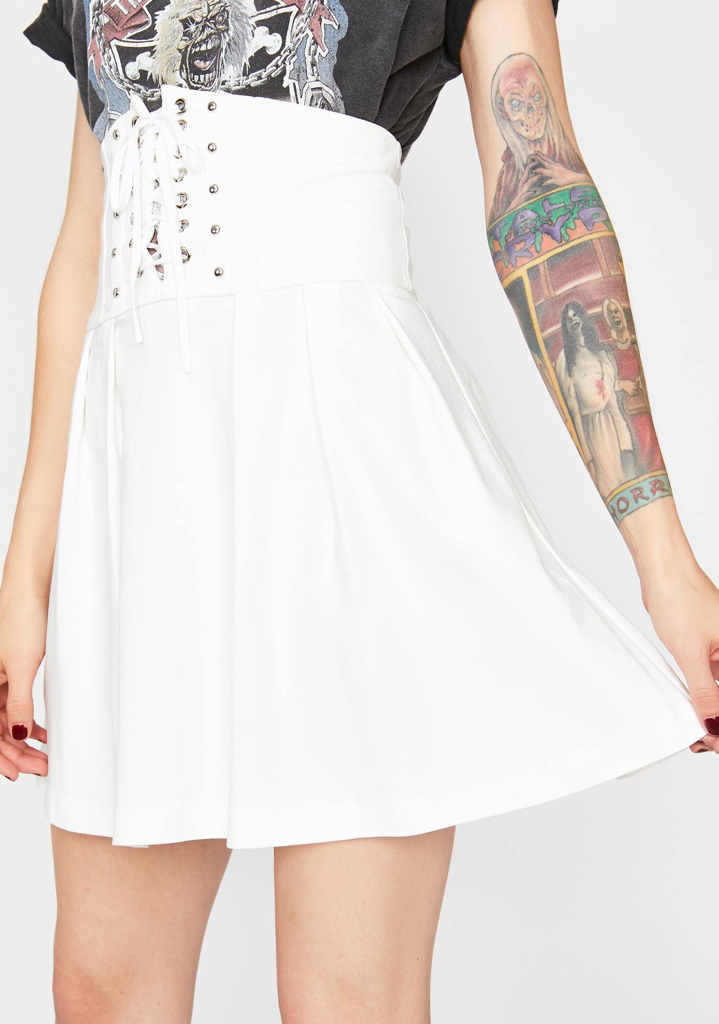 Fatally Obsessed Lace Up Skirt