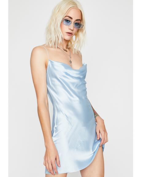Sky Evening Appeal Satin Dress