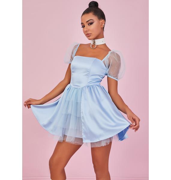 Sugar Thrillz Got You Babe Satin Mini Dress