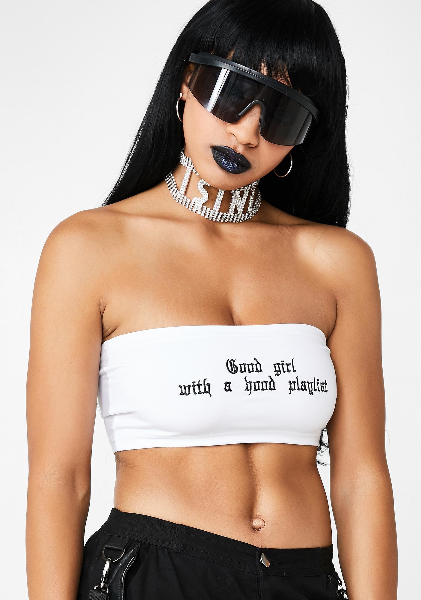 Hidden Cult Good Girl With A Hood Playlist Tube Top
