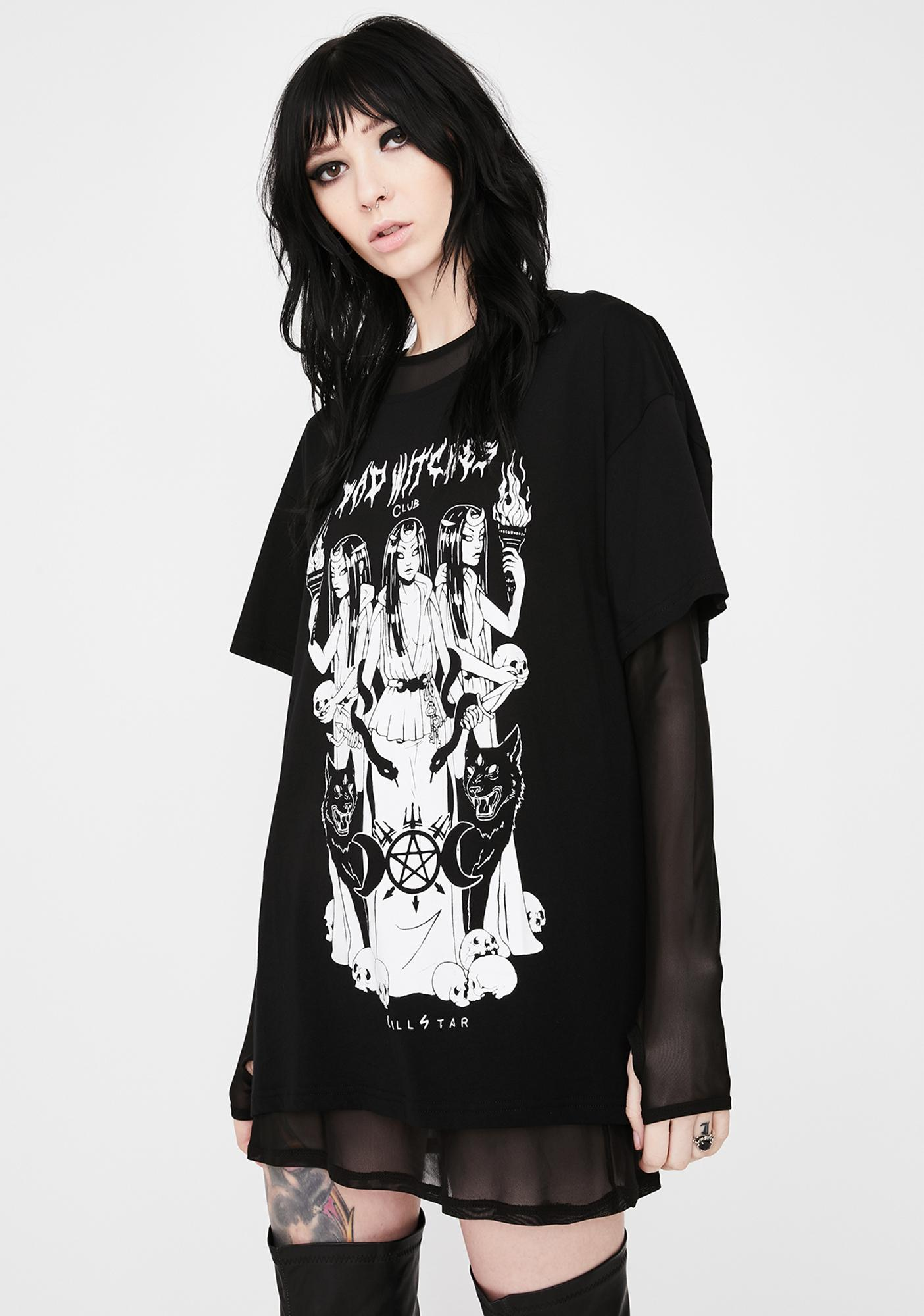 Killstar Bad Witches Club Relaxed Top