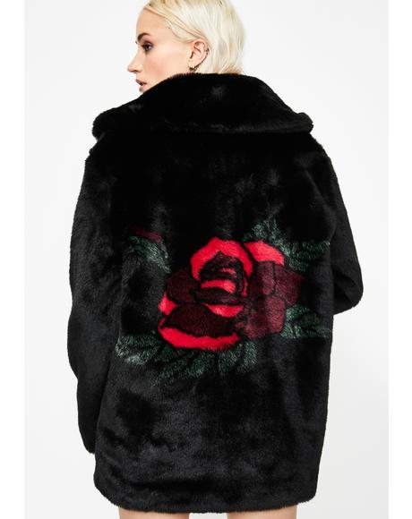 Seedy Nature Faux Fur Coat