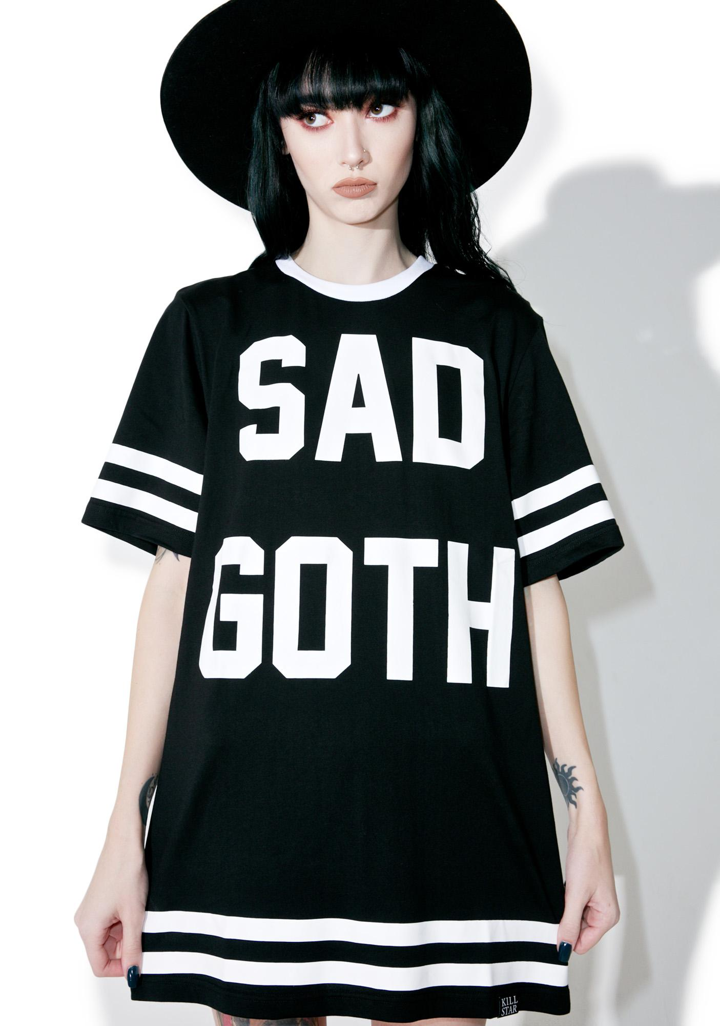 Killstar Sad Goth Hockey T-Shirt