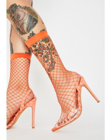 Amber The Hott Friend Fishnet Heels