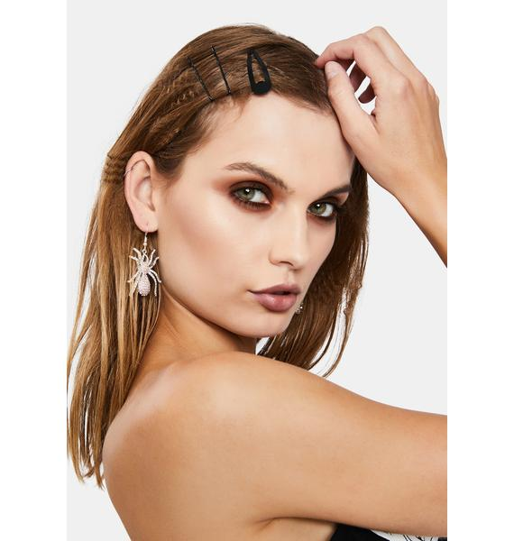 Spider Shine Drop Earrings