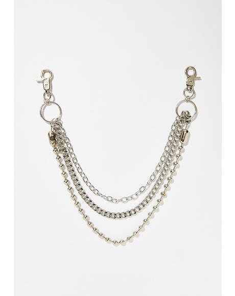 Sk8er Gal Layered Chain